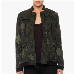 Joe's Jeans Frenchie Military Floral Camo Jacket